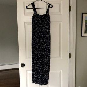Loft navy and white polka dot jump suit